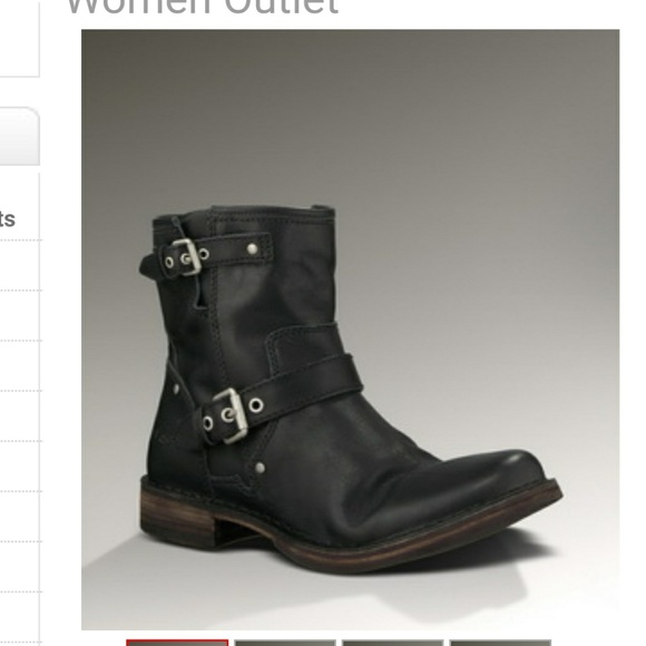 9cf5c683052 Ugg Boots Fabrizia Women's Black Leather Boots 9